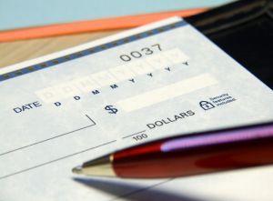 emploi à domicile : réception de chèque