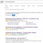 Acte de naissance sur Google