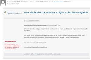 Tentatives de phishing annonçant un trop-perçu des impôts
