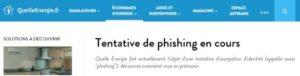 Spams QuelleEnergie.fr et BoucherieLevy.fr