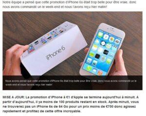 IPhone à 1 euro seulement