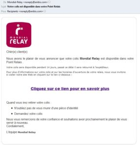 Phishing Mondial Relay