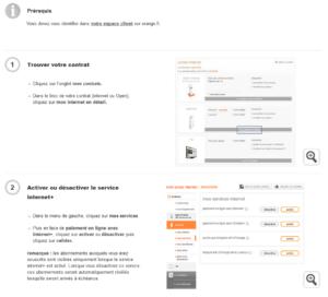 internet + orange