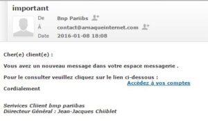 BNP phishing