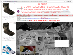 arnaque site chaussures adidas
