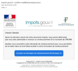 impots phishing